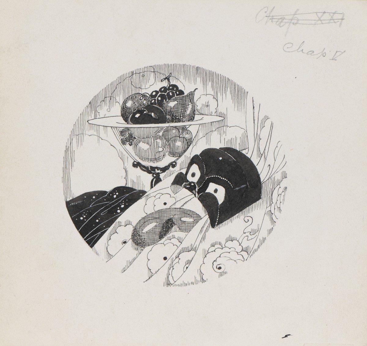"""""""Venise"""" Umberto Brunelleschi (1879-1949) Vers 1925 Projet pour un livre -photo-6"""
