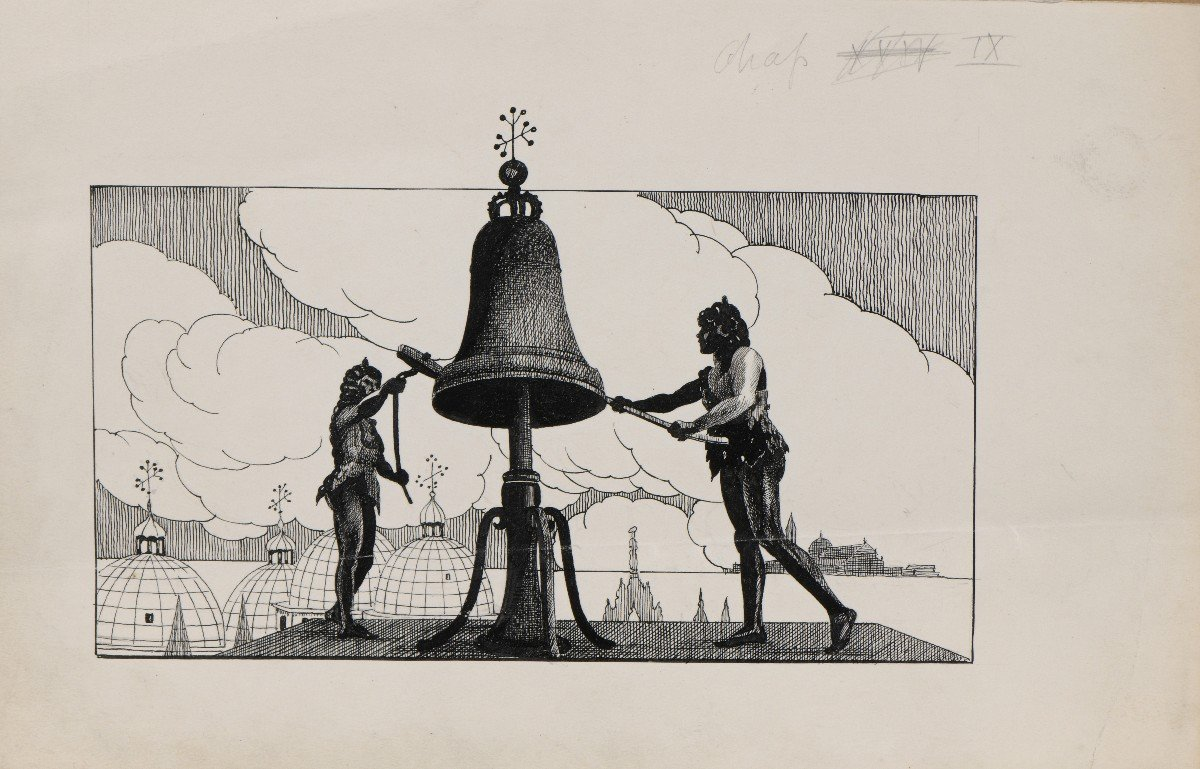 """""""Venise"""" Umberto Brunelleschi (1879-1949) Vers 1925 Projet pour un livre -photo-7"""