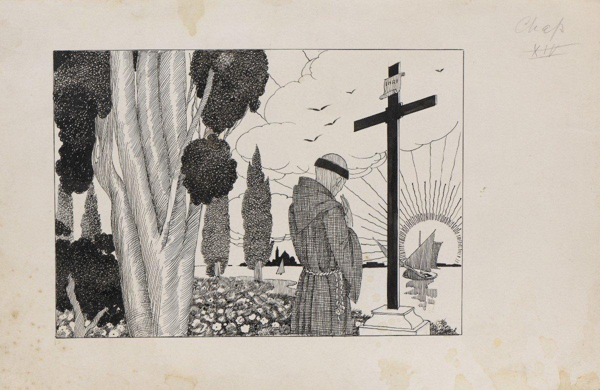 """""""Venise"""" Umberto Brunelleschi (1879-1949) Vers 1925 Projet pour un livre -photo-8"""