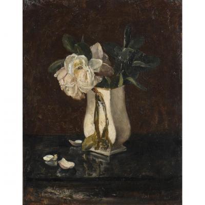 """Fleurs Fanées"" Jules Valadon Circa 1890"