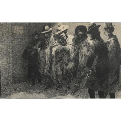 """""""Les peintres"""" Mario Pezilla Circa 1890"""