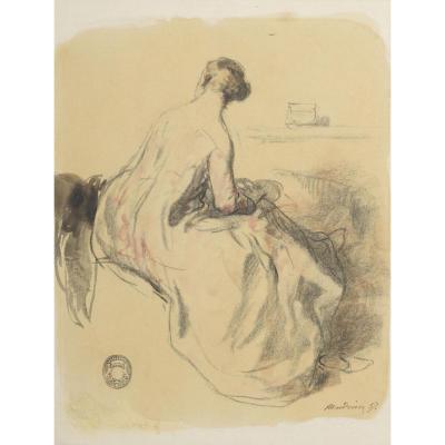 """""""Femme de dos""""  Clément-Auguste Andrieux 1857"""
