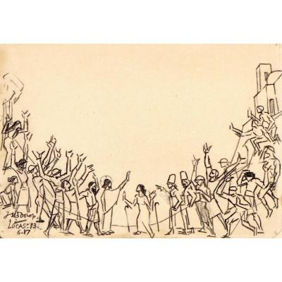 Jan Toorop (1858-1928) La Parabole De La Femme Courbée