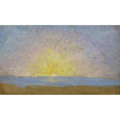 """Meynard """"Coucher De Soleil"""" circa 1900"""