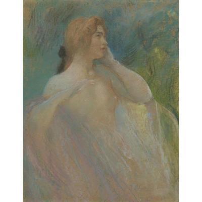 """Paul-Albert Laurens (1870-1934) """"Portrait De Femme"""""""