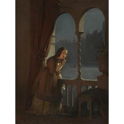 """Le Billet doux"" Edvard Lehmann (1815-1892) Circa 1840"