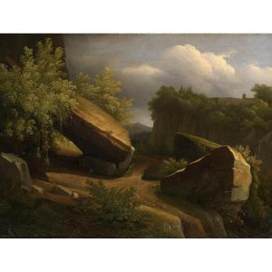 """""""Avant l'orage"""" Charles-Joseph Remond (1795-1875)  Huile sur toile Vers 1820"""