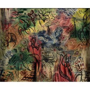 """""""Composition abstraite"""" Suzanne Duchamp (1889-1963) Huile sur toile Soeur de Marcel Duchamp"""