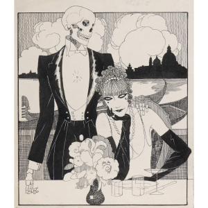 """""""Venise"""" Umberto Brunelleschi (1879-1949) Vers 1925 Projet pour un livre"""