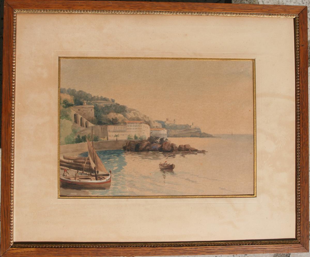 Nice, Les Ponchettes, aquarelle fin XIXème