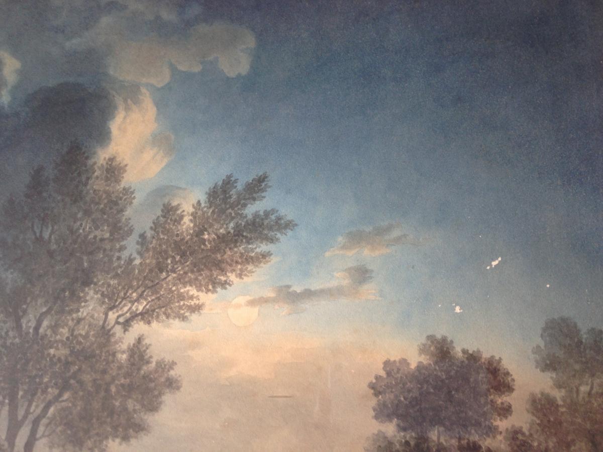 Pêcheurs Au Crépuscule, Paysage Animé