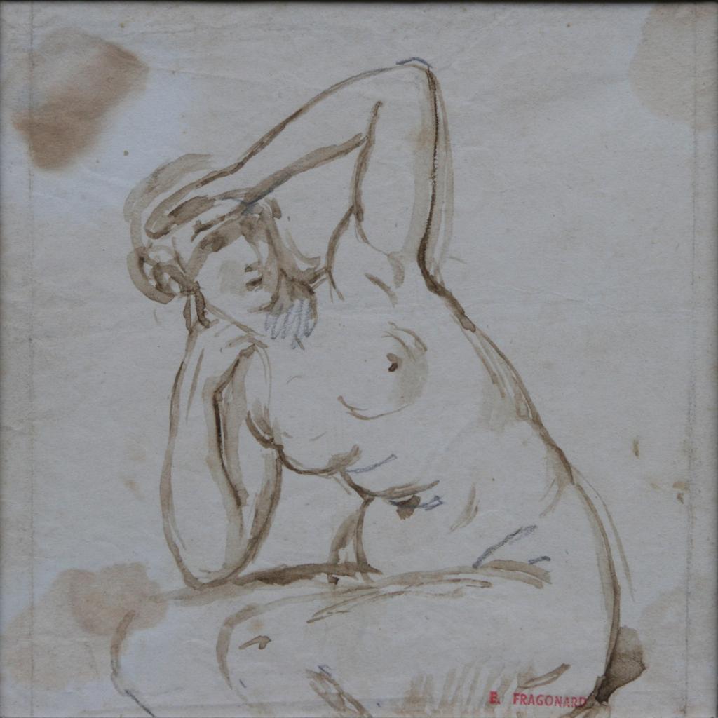 Alexandre Evariste Fragonard, Etude De Nu Féminin