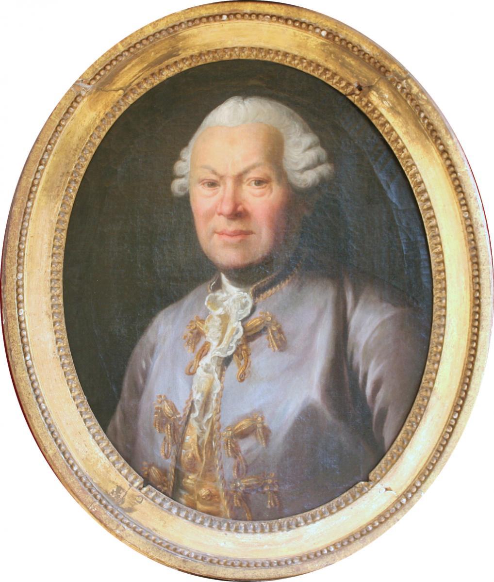 Portrait d'Homme à La Veste Violette