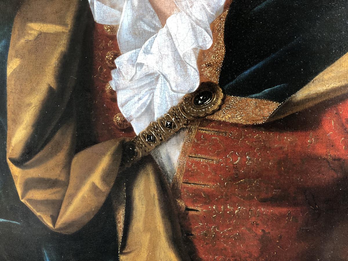 Portrait De Gentilhomme Début XVIIIe