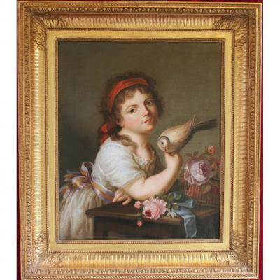 Portrait, Fillette à La Tourterelle