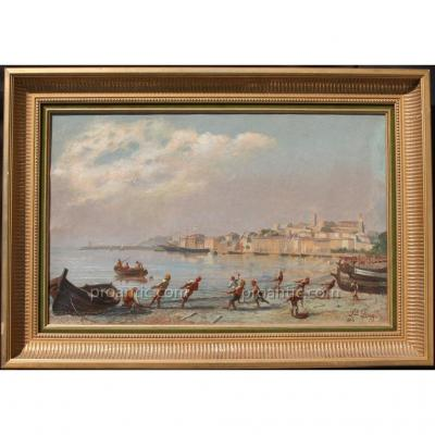 Lieutenant Long. Retour De Pêche, Cannes 1880