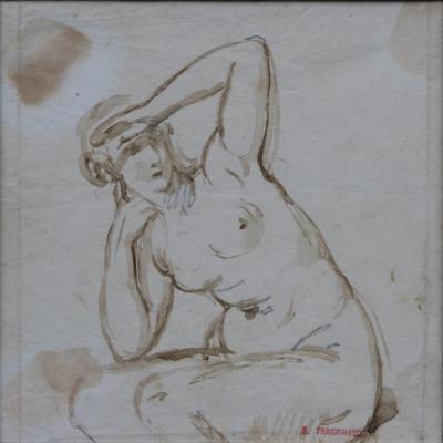 Alexandre Evariste Fragonard, Female Nude Study