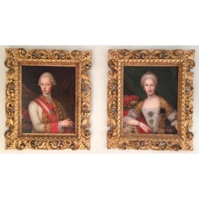 Anton Von Maron, Entourage,  Léopold 1er de Habsbourg Lorraine et Marie-Louise d'Espagne