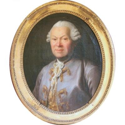 Portrait Of Man In A Violet Jacket