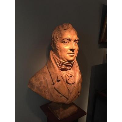 Buste En Terre Cuite Attribué à Jean Baptiste Cadet De Beaupré (1758-1823)