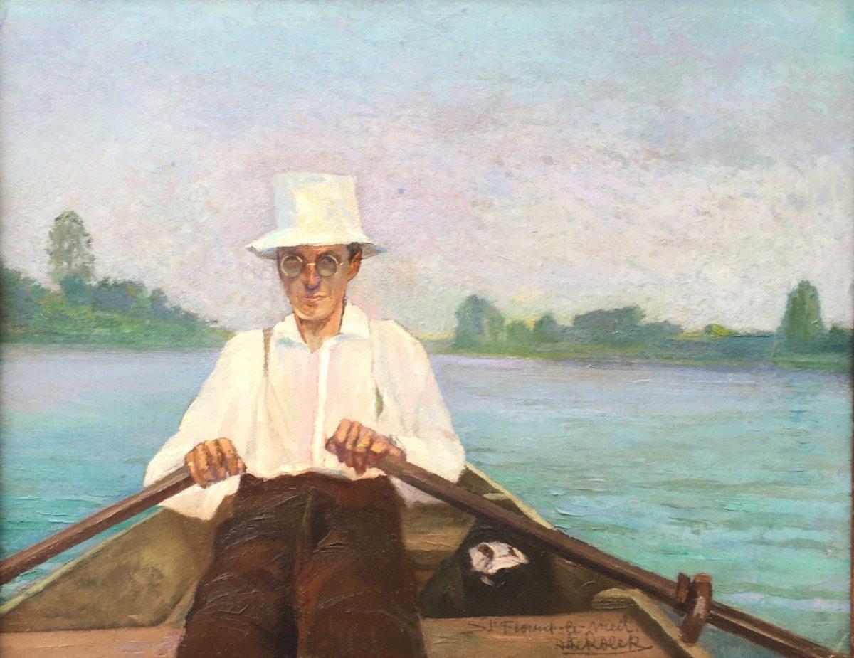 Promenade sur la Loire à Saint-Florent, Alfons De Roeck  (1896 - 1982)