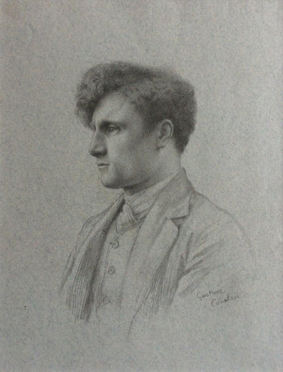 Gustave Courtois, Portrait De Jeune Homme