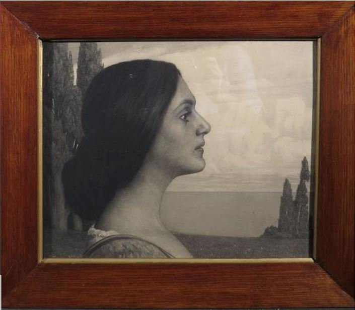 Georg Jahn, La Femme Idéale,  Pointe Sèche, 1903