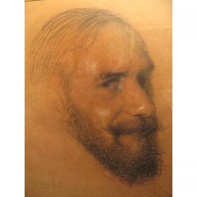 Julien Adolphe Duvocelle, Portrait Of A Man