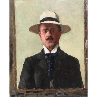 M. Chapeau, Autoportrait, Circa 1890