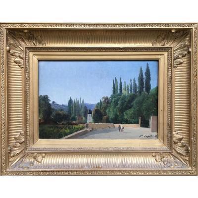 Louis-auguste Lapito, Paysage Animé Du Sud De La France, 1865