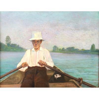 Boat Ride On The Lake Saint Florent, Alfons De Roeck (1896 - 1982)
