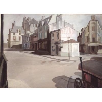 Serge Pimenoff (1895-1960), La Rue, Gouache On Paper