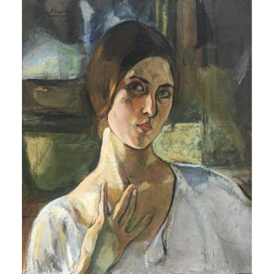 Paule Quillien - Self-portrait - 1920