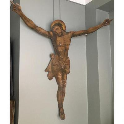 Christ On The Cross On A Metal Plate, 19th Century