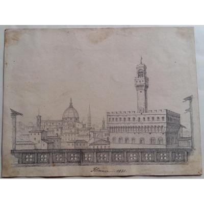 Anonyme, Vue De La Piazza Della Signoria, Florence, 1831