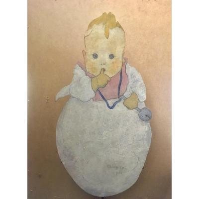 Peinture de Bébé En Découpe,