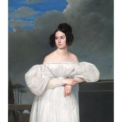 Claude Marie Dubufe (1790 - 1864)  Portrait d'une jeune fille (Mademoiselle Piton du Gault)