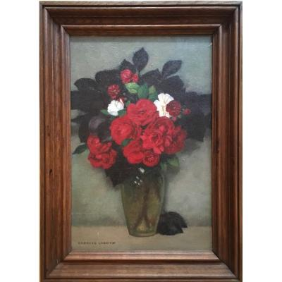 Georges Leroux (1877 - 1957) Bouquet Of Roses