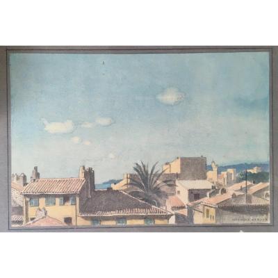 Georges Paul Leroux (1877 - 1957) - Vue Des Toits De Cassis