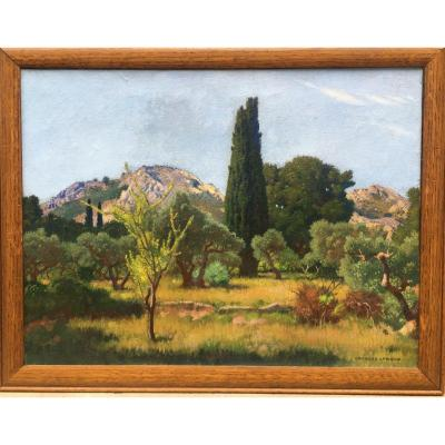 Georges Leroux (1877 - 1957), Paysage De Provence