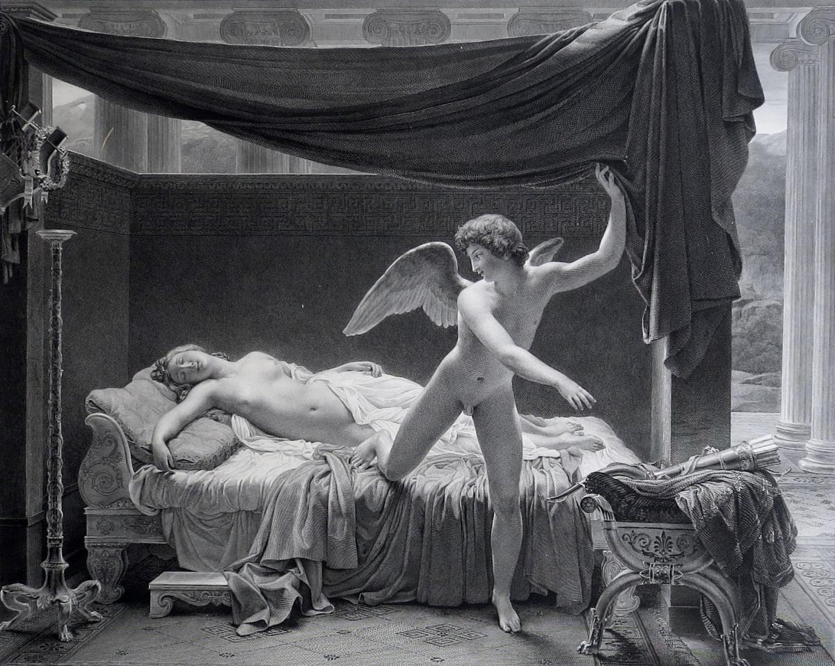Burdet, D'après Picot, Psyché Et L'amour, Burin