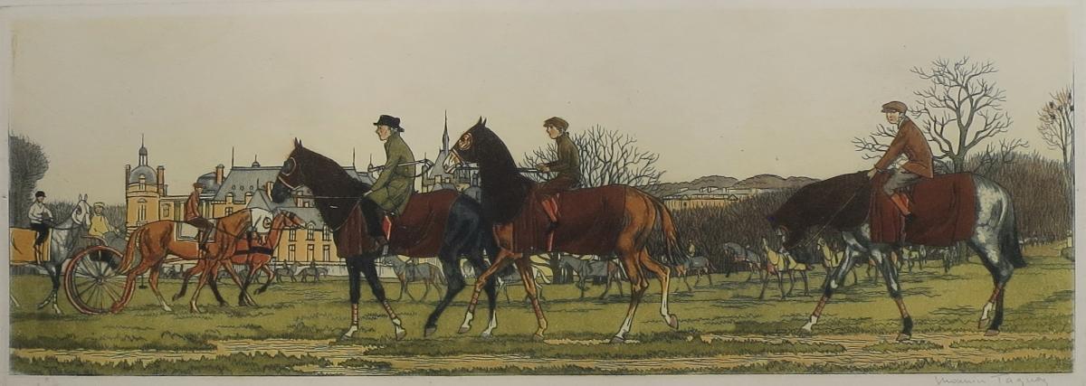 Taquoy Training Chantilly, Aquatint, 1912