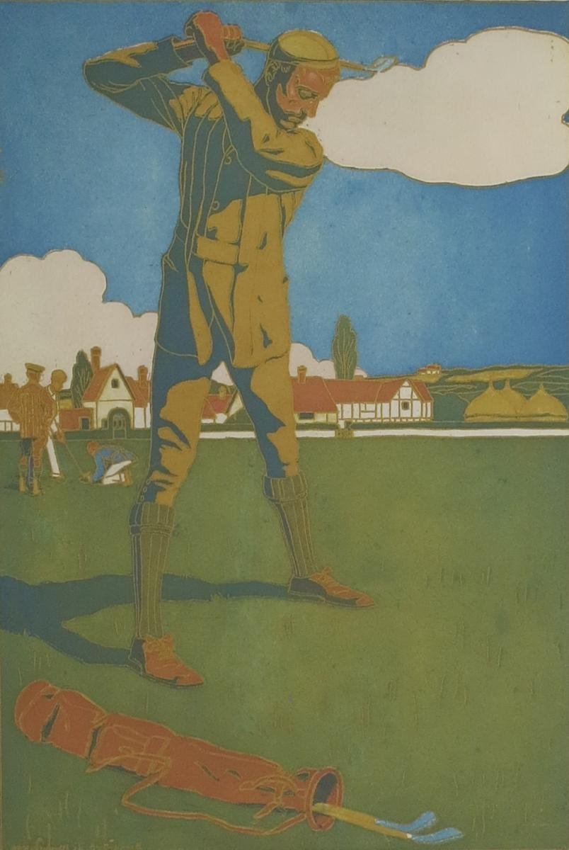 Boutet De Monvel, The Golfer, Aquatint