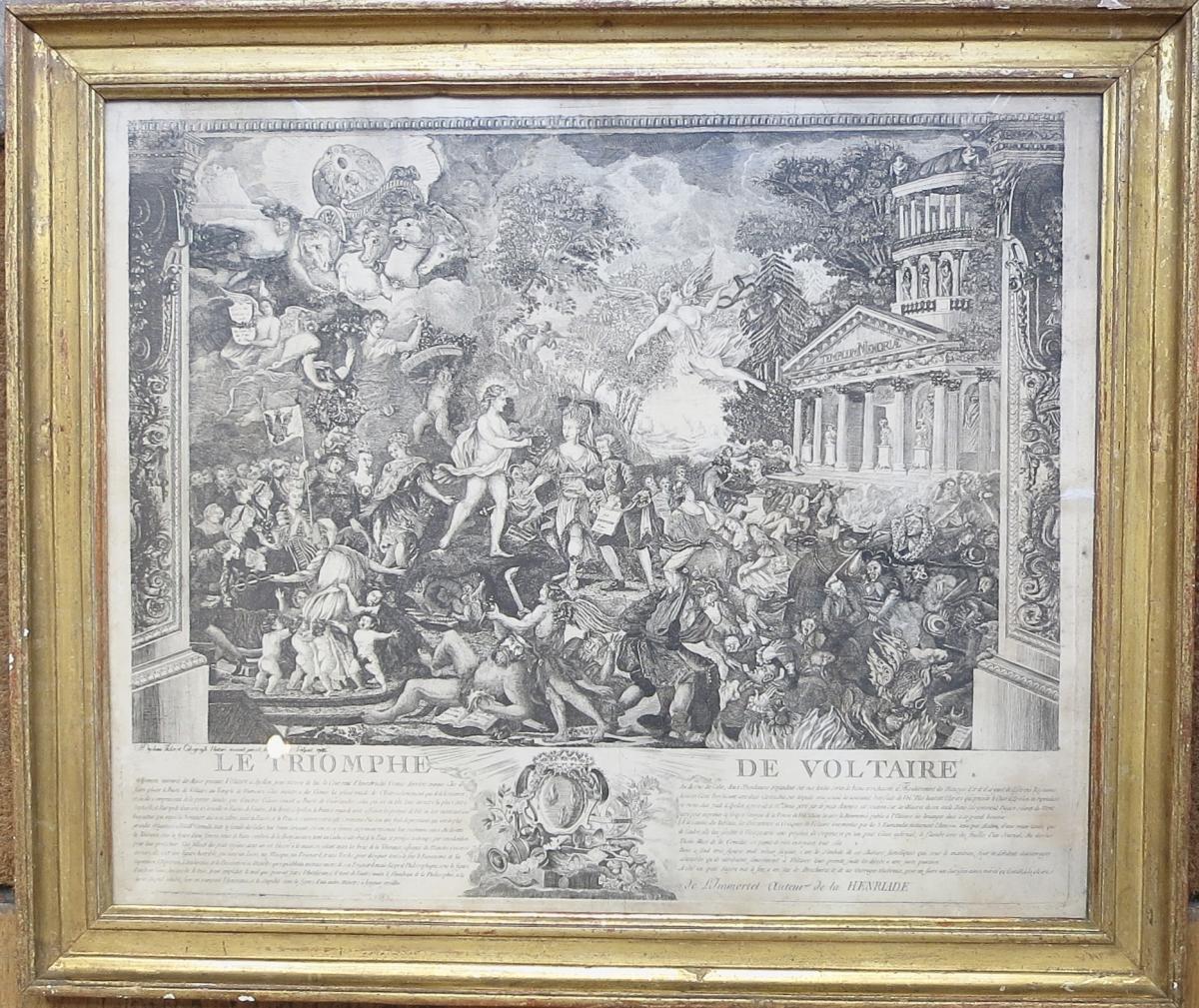 Duplessis, Le Triomphe De Voltaire, Eau-forte, 1786