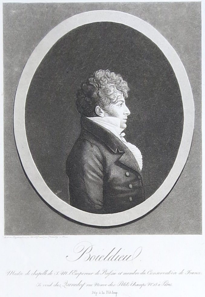 E. Quenedey, Physionotrace De Boieldieu, Aquatinte