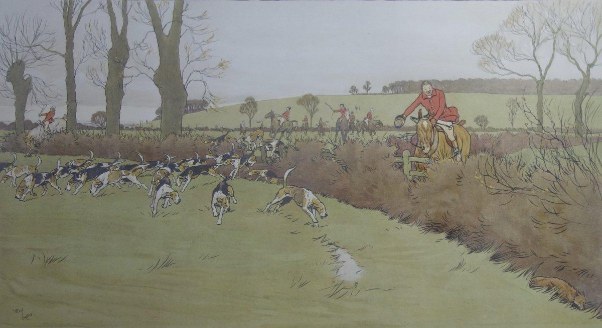 Cecil Aldin, The Cottesbrook Hunt, Lithographie, 1914