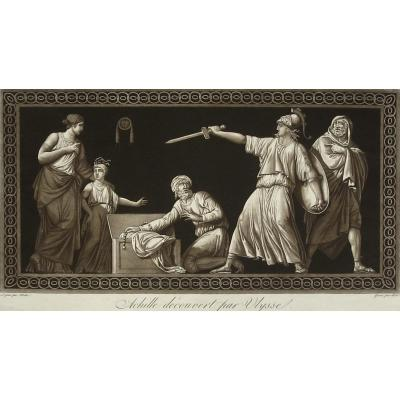 Ridé, After Moitte, Achilles Guided By Ulysses, Aquatint