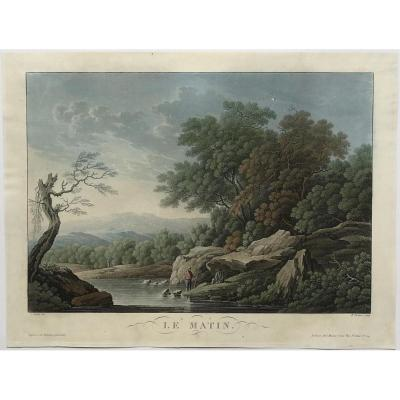 Piringer, 4 Aquatints On The Hours Of The Day