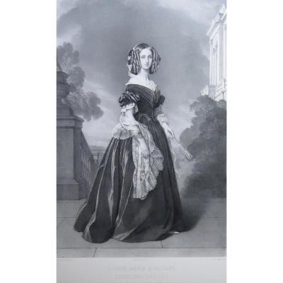 Grevedon, Winterhalter, Louise Marie D'orléans, Lith 1844