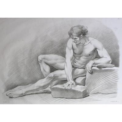 Hayard, Bouchardon, étude D'homme, Manière De Crayon